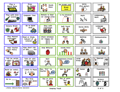 Schedule, Activity and Task Cards