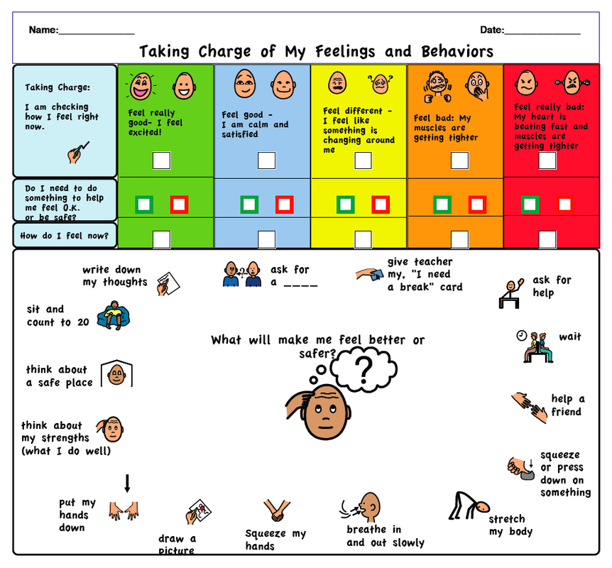 It's just an image of Adaptable Zones of Regulation Printable
